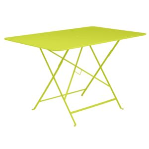 Table de jardin pliante Fermob Bistro l117 L77 cm acier verveine