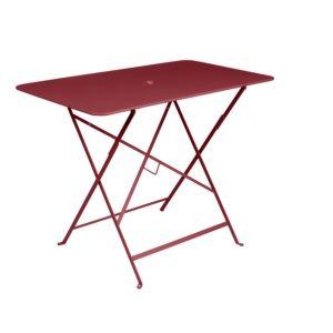 Table pliante Fermob Bistro l97 L57 cm acier piment