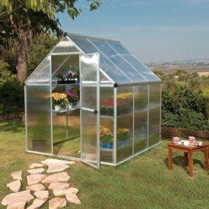 Serre de jardin Mythos polycarbonate 3,40 m² + embase - Palram
