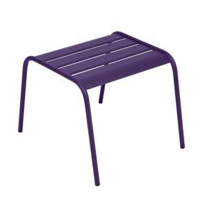 Table basse / repose-pieds Fermob Monceau acier aubergine – empilable