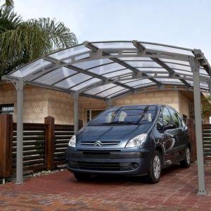 Carport acier et toit polycarbonate Almicar 18,17 m² – Chalet et Jardin