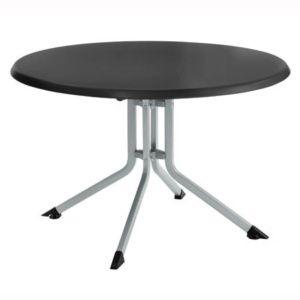Table pliante Ø 100 cm – Argent / anthracite – Kettler