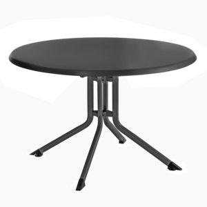 Table de jardin pliante Kettler résine Ø100 cm anthracite