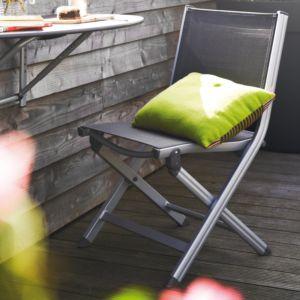 Chaise pliante Basic Plus argent/anthracite