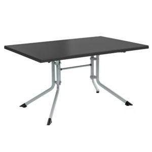 Table de jardin pliante en résine et aluminium Kettler L115 l70 cm argent/gris