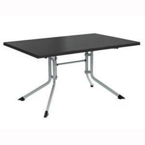 Table pliante 115 x 70 x 74 cm – Argent / Anthracite – Kettler