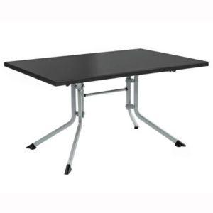 Table pliante 160 x 95 x 74 cm – Argent / Anthracite – Kettler