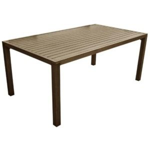 Table de jardin Milano aluminium l180 L100 cm brun