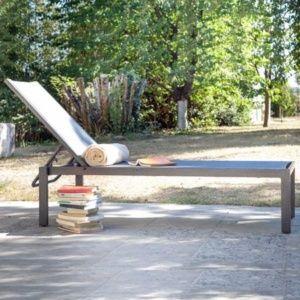 Lot de 2 Bains de soleil Ida aluminium/textilène argent