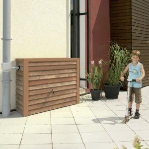 Récupérateur d'eau Woody 350L bois clair Garantia