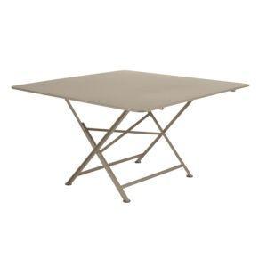 Table pliante Fermob Cargo acier l128 L128 cm muscade