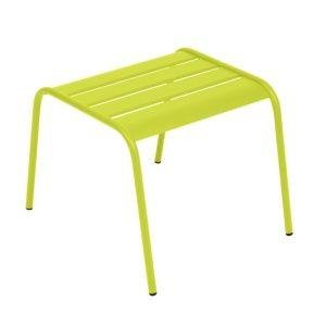 Table basse / repose-pieds Fermob Monceau acier verveine – empilable. PLANTES ET JARDIN – Jardinerie en ligne
