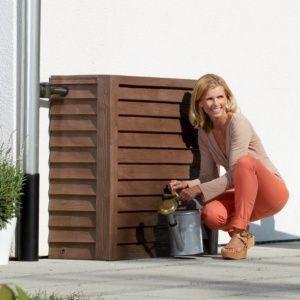 Récupérateur d'eau Woody 350L Bois foncé Garantia Plantes et Jardins Jardinerie en ligne