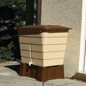 Récupérateur d'eau rectangulaire sable 520L Garantia Plantes et Jardins Jardinerie en ligne