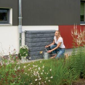 Récupérateur d'eau mural Rocky Gris Granite 400L, Garantia