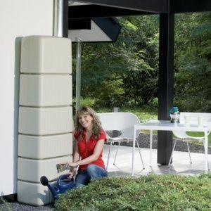 Récupérateur d'eau Mural SLIM Sable 650L, Garantia
