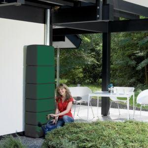 Récupérateur d'eau mural SLIM Vert 650L, Garantia