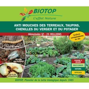 Nématode Sf contre chenilles du verger, mouche du terreau et les taupins – Biotop