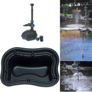 Kit Bassin 500L: Bassin Préformé 500 + Pompe Aquarius Fountain Set 1000