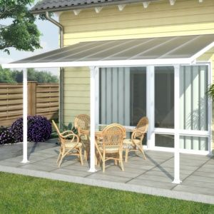 Toit terrasse aluminium Aurore 4200 Avancée 3m Blanc SOLDES