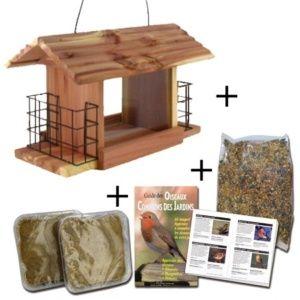Kit découverte oiseaux Snack Shak – mangeoire, graines, 2 pains de graisse et livret