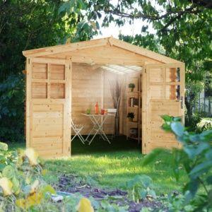 Abri de jardin bois, toit en polycarbonate traité anti UV garanti 10 ans, sapin du nord certifié FSC Plantes et Jardin – Jardinerie en ligne