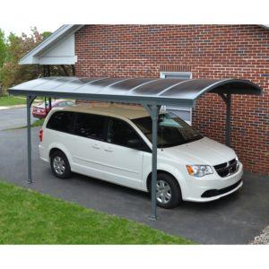 Carport en aluminium, résistant et sans entretien, panneaux de vitrage pare-grêle, toiture polycarbonate anti UV Plantes et Jardin – Jardinerie en ligne
