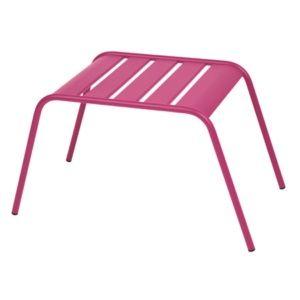 Table basse repose-pieds Fermob Monceau acier fuchsia