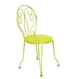 Chaise empilable Fermob Montmartre acier verveine