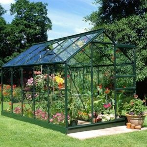 Serre de jardin Princess en verre trempé 6,20m² + embase Eden Greenhouses