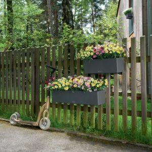 Jardinière Lechuza Balconera Trend L80 H19 cm gris. PLANTES ET JARDIN – Jardinerie en ligne