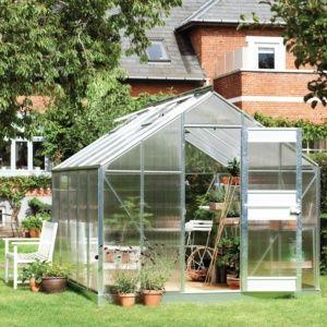 Serre de jardin Compact Plus polycarbonate 9.9 m² - Juliana