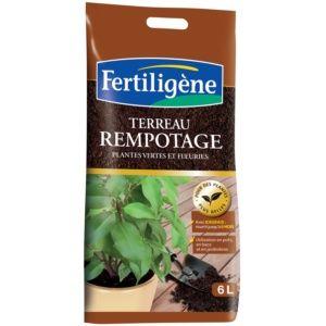 Terreau de rempotage plantes vertes et fleuris 6 L - Fertiligène