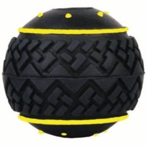 Balle Black Yellow - Anka - Jouet en caoutchouc pour chien