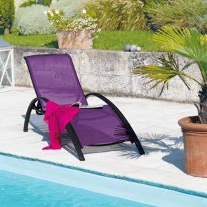 Bain de soleil Sartene aluminium/textilène cassis
