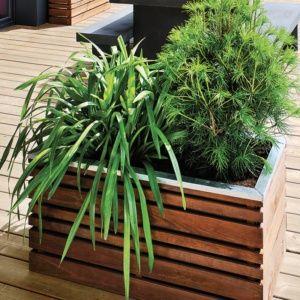 Bac à fleurs bois traité LignZ L100 H50 cm