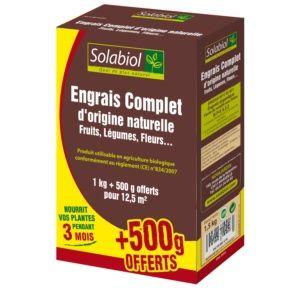 Engrais complet bio 1 Kg + 500 g offerts - Solabiol