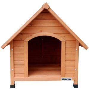 Niche pour chien de taille moyenne en bois, Lifland Medium