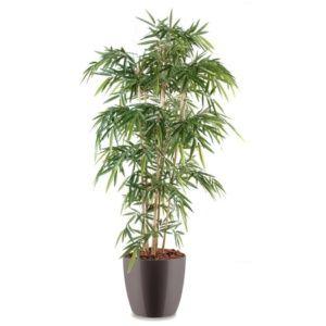 Bambou 6 chaumes H180cm semi-artificiel avec pot Elho gris