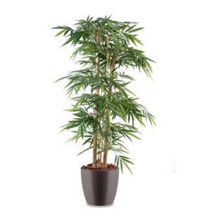 Bambou grosses cannes H150 cm pot Elho gris