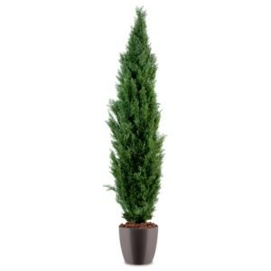 Cyprès H150cm artificiel pot elho gris