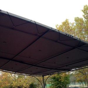 Toile universelle polyester 200 gr/m² pour tonnelle adossée 3x3m taupe