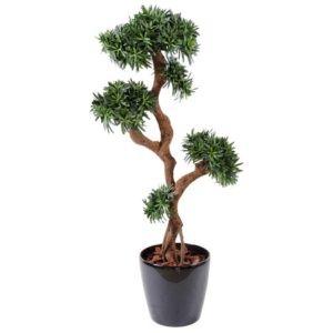 Podocarpus tree vert, H150cm artificiel non rempoté
