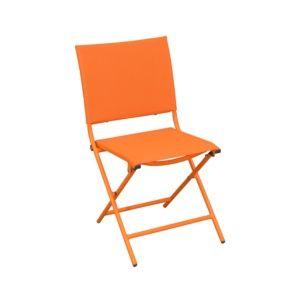 Chaise pliante Globe acier/textilène orange