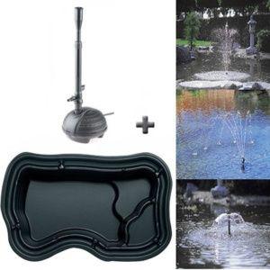 Kit pour bassin incluant bassin préformé en polyéthylène et pompe filtrante Pondovario 1500, capacité 1000L Plantes et Jardins – Jardinerie en ligne
