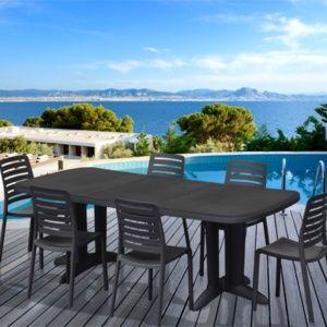 Table extensible Deco manganèse l250 L112 cm SOLDES