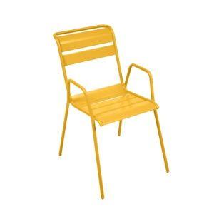 Chaise empilable Fermob Monceau acier miel PLANTES ET JARDIN – Jardinerie en ligne