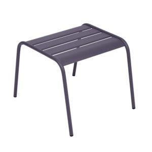 Table basse / repose-pieds Fermob Monceau acier prune – empilable