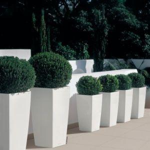 Pot Lechuza Cubico Color L30 H56 cm blanc