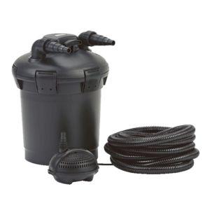 Kit filtration bassin Pondopress Set 1000, filtre UVC 9W intégré, filtration hautes performances Plantes et Jardins – Jardinerie en ligne